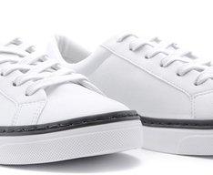 Tênis Tina Branco e Preto