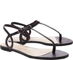 Sandália Ovalada Slim Preta