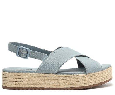 Sandália Azul Espadrille Natural