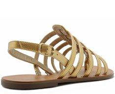 Sandália Basic Tiras Dourada