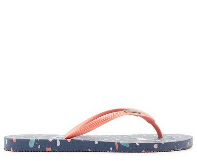 Chinelo Multicolorido Tira Vermelha
