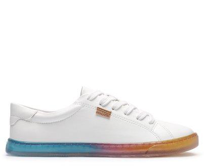 Tênis Branco Com Solado Colorido