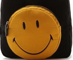 Mochila Smiley Lona Preta