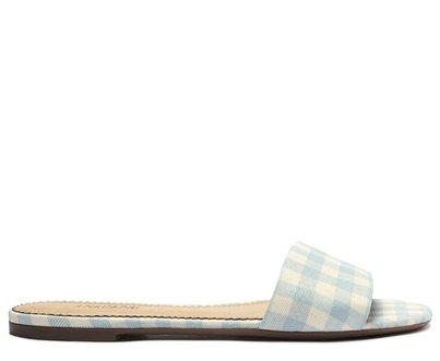 Rasteira Azul Vichy Tira Flat
