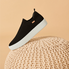 Slip On Preto Stretch