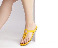 Rasteira Aros Amarela