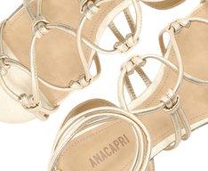 Sandália Tiras Dourada