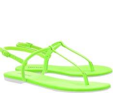 Sandália Slim Verde Neon