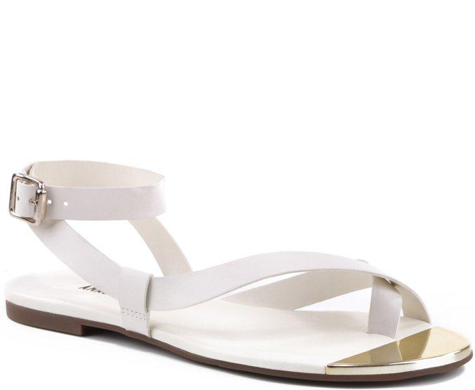Rasteira Ponteira Colors Branca