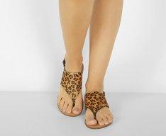 Sandália Forma Geométrica Mini Onça