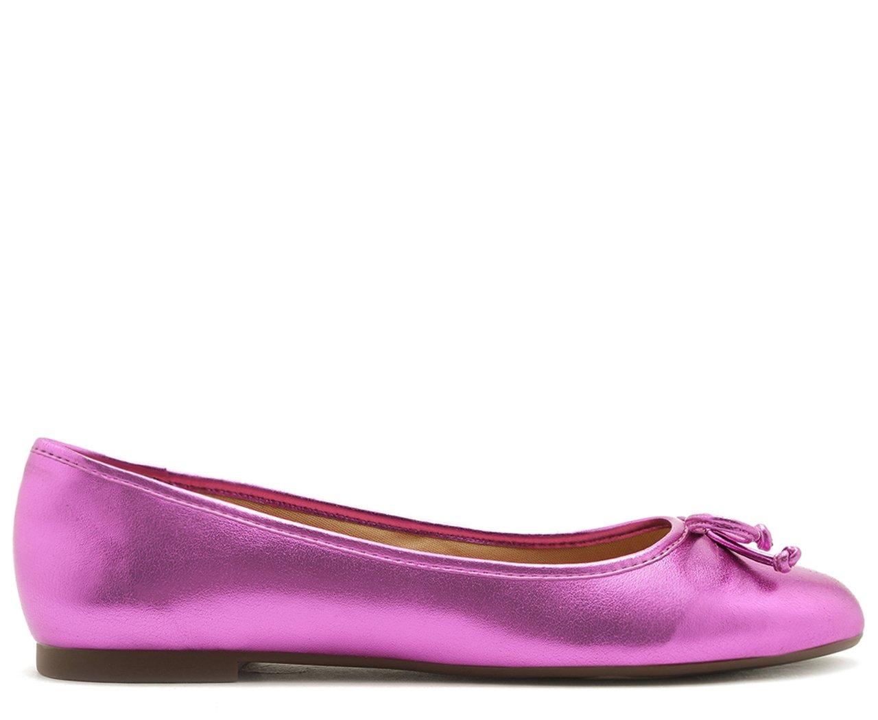 Sapatilha Laço Pink Metalizado | Anacapri