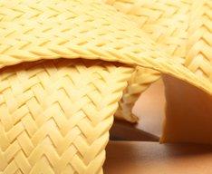 Rasteira Amarela Color Vibes Trançada