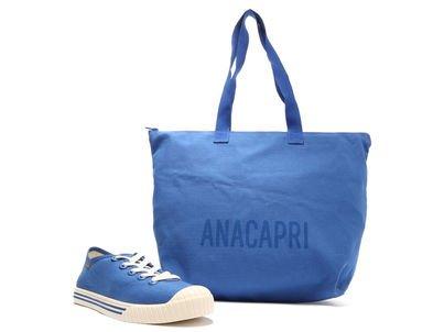 [Pré Venda] Kit Tênis Azul e Bolsa Shopping Lona