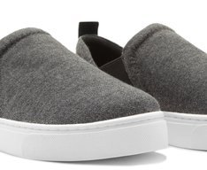 Tênis Slip On Moletom Preto