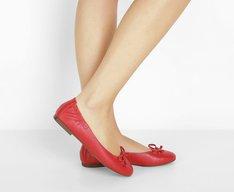 Sapatilha Bico Redondo Essenciais Vermelha