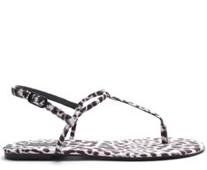 Sandália Slim Animal Print P&B