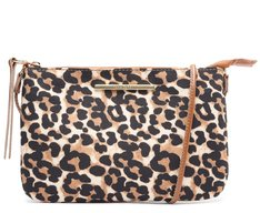 Crossbody Animal Print Tecido Onça