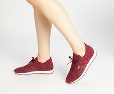 Tênis Vermelho Vinho Knit