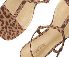 Sandália Slim Animal Print