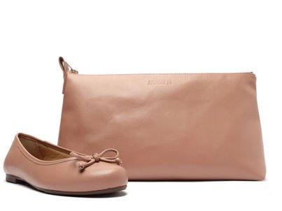 Kit Sapatilha Rosa Lacinho e Bag
