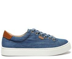 Tênis Azul Jeans Sola Alta