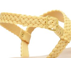 Sandália Amarela Color Vibes Tiras Trançada