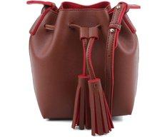 Mini Bucket Ravena Marrom