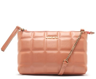Bolsa Rosa Slim Quadriculada