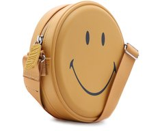 Crossbody Redonda Smiley Amarela