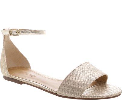 Sandália Juta Metalizada Dourada