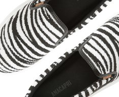 Tênis Duda Slip On Knit Zebra