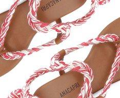 Sandália Trança Amarração Vermelho