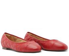 Sapatilha Bico Redondo Matelassê Vermelha