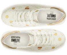 Tênis Dani Smiley Branco e Dourado