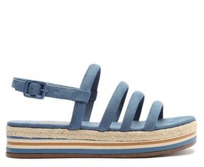 Sandália Azul Multi Tiras Flatform
