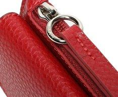 Carteira De Mão Vermelha Bolso Externo