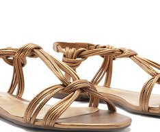 Sandália Nós Bronze