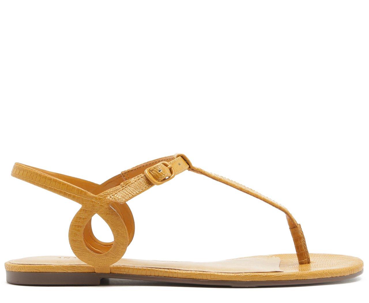 Sandália Ovalada Lezard Páprica | Anacapri