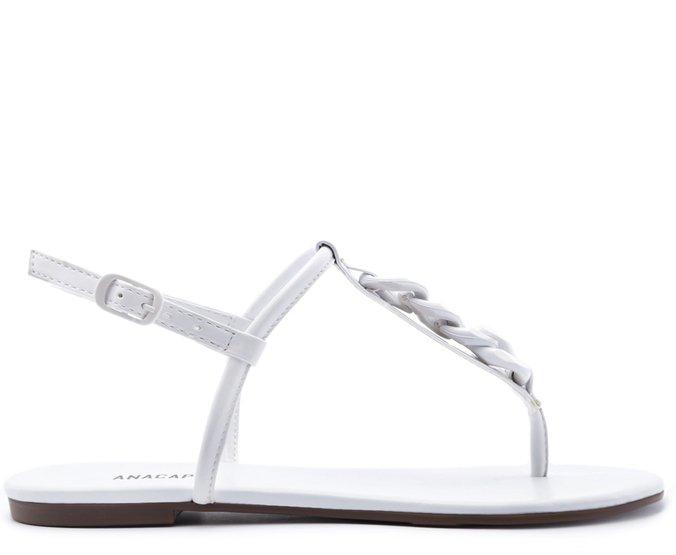 Sandália Corrente Resina Branca