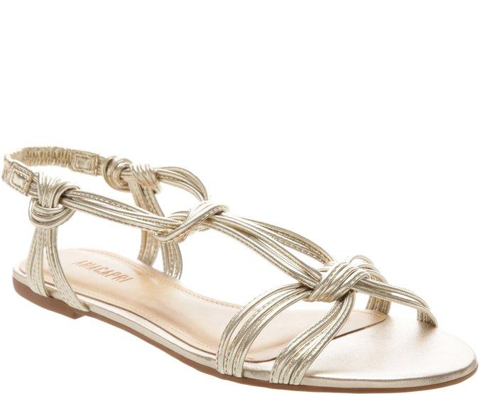 Sandália Nós Ouro Claro | Anacapri