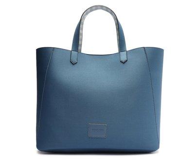 Bolsa Shopping Azul Vichy Grande