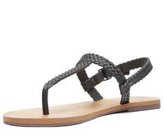 Sandália Preta Color Vibes Tiras Trançada