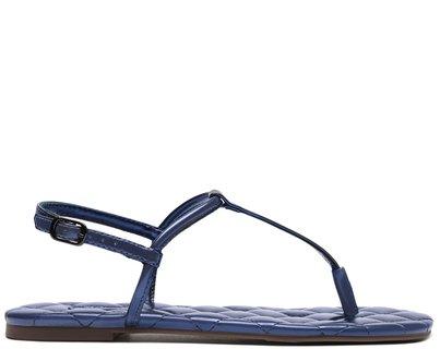 Sandália Azul Metalizado Matelassê Slim