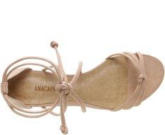 Sandália Lace Up Nude