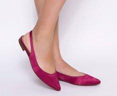Sapatilha Slingback Cetim Pink
