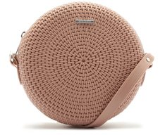 Crossbody Redonda Texturizada Rosa Antique