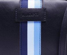 Crossbody Listras Azul Marinho