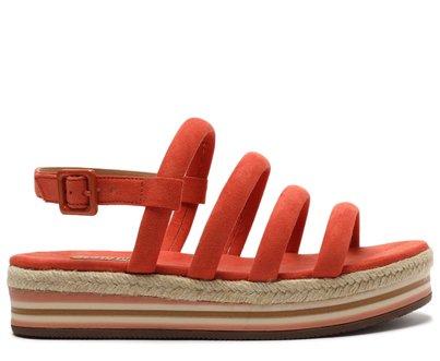 Sandália Laranja Ocre Multi Tiras Flatform