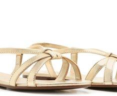 Sandália Dourada Tiras