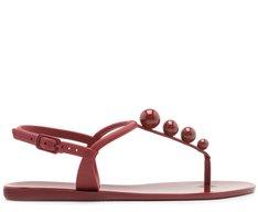 Sandália Vermelha Bolinhas
